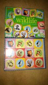 Brand new eeBoo Wildlife matching card game