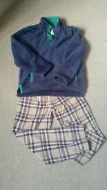 Boys (9-10 years) Boden Fleece and cheque pull ons