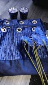 Blue Curtains and accessories
