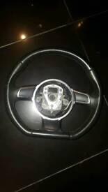 audi a3 s3 flat bottom steering wheel