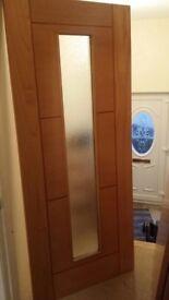 Modern oak external door