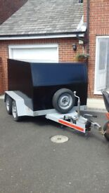 Used 4 wheeled box trailer