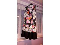 Black floral dress size 12 brand new from Quiz