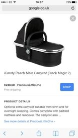 Icandy peach carry cots 2 available