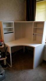Corner workstation MICKE white