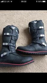 Wulfsport motorbike trials boots