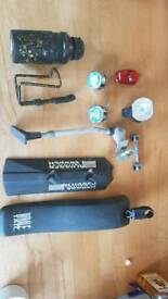 Cycle Mud Guards, a kick stand, lights and other accessories