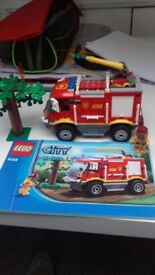 Lego fire engine and off road fire truck