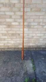 Wooden curtain pole