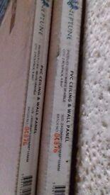 PVC ''WHITE SPARKLE'' BATHROOM OR KITCHEN PANEL
