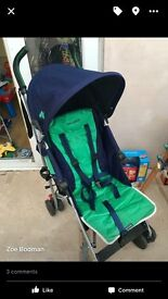 Maclaren quest pushchair with rain cover