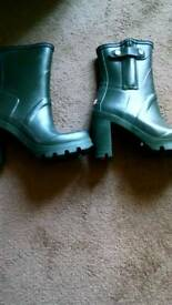 Ladies hunter heeled shoes wellies new