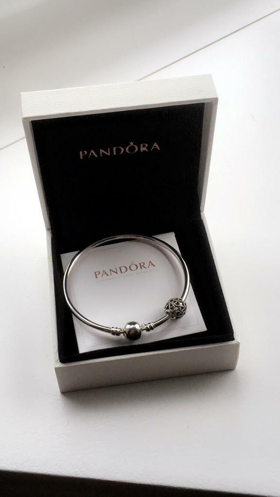 Pandora Essence Silver Bracelet And Charm In Murrayfield