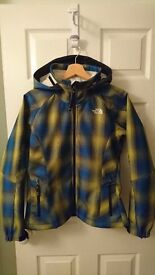 The North Face Apex Womens Jacket. Medium. Yellow/Blue Check. Rarely worn, great condition.