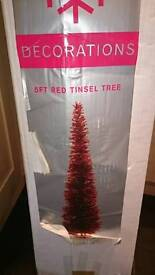 Next 5ft red Christmas tree