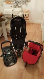 Quinny zapp and maxi cosi car seat with base. Great condition