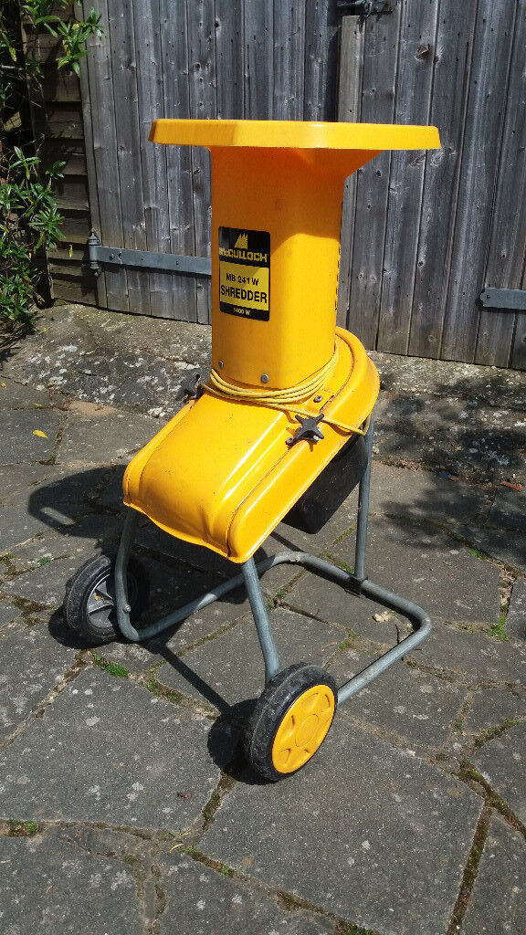 Mcculloch Mb 241w Electric Garden Shredder Chipper 1400w