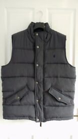 Mens Grey Joules Padded Gilet\Body Warmer Size Large
