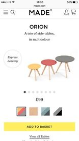 NEW unused side tables from Made