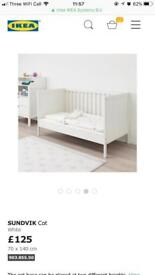 Ikea Sundvik Cot and Mattress