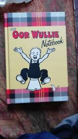 The Oor wullie notebook new
