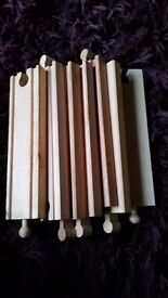 Straight wooden track x7 pieces 17cm