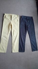 Boys 'Flipback' chino trousers x2 Age 12