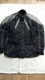 Biker jacket size XL padded back and elbows