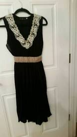 Size 12 black & gold dress
