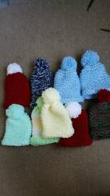 Handmade premmie baby and Newborn hats each