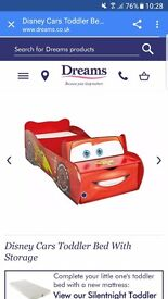 Lightning mcqueen toddlers bed hardly used RRP £199 looking for £80