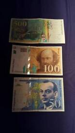 500,100,50 Unique and antique 1995 Francs.