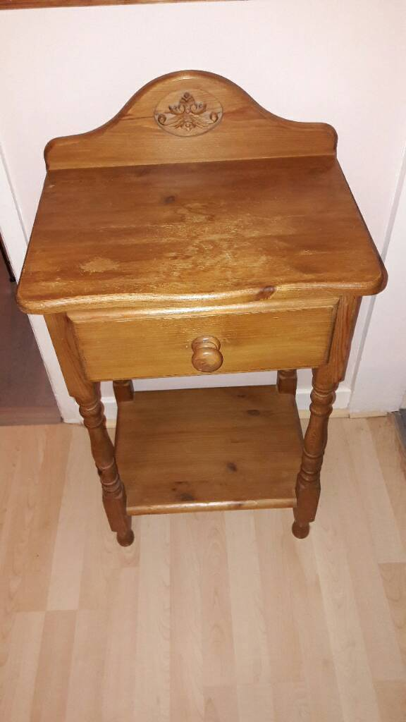 Solid pine telephone table