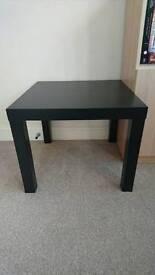 Black Ikea Lack table.