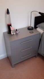 Matching steel grey chests of drawers