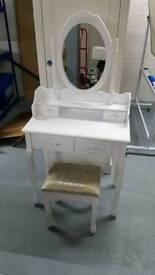 Dressor with stool