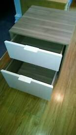 Two drawer cabinet with soft close drawers