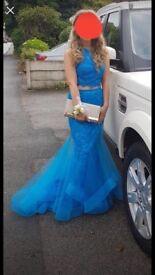 Blush 2 peice prom dress