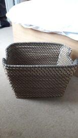 whicker basket for storage