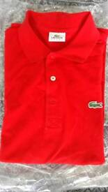 M Red Lacoste Polo in Excellent condition
