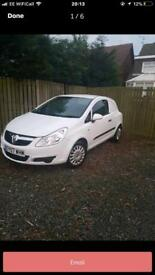 Vauxhall Corsa van new shape long mot