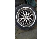 Devil Staggered Deep Dish 18 inch Alloys + Tyres