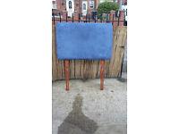 blue headboard for single bed