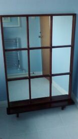 Large mirror with shelf