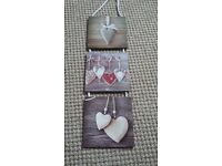 Triple hanging Plaque with Hearts