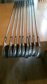 Full golf club set + trolley + extras