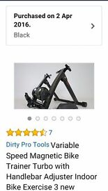 Magnetic Bike Trainer, 3 months old & in perfect condition. Purchased from Amazon for £45.