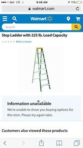 8ft Davidson green Fiberglas ladder