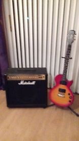 Marshall 100 watt Guitar amp MG series and Epiphone Les Paul Guitar
