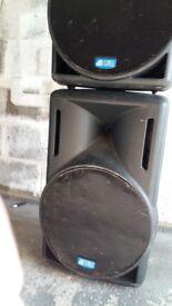 PA Speakers, DB technology Lyric Opera 415 powered speakers
